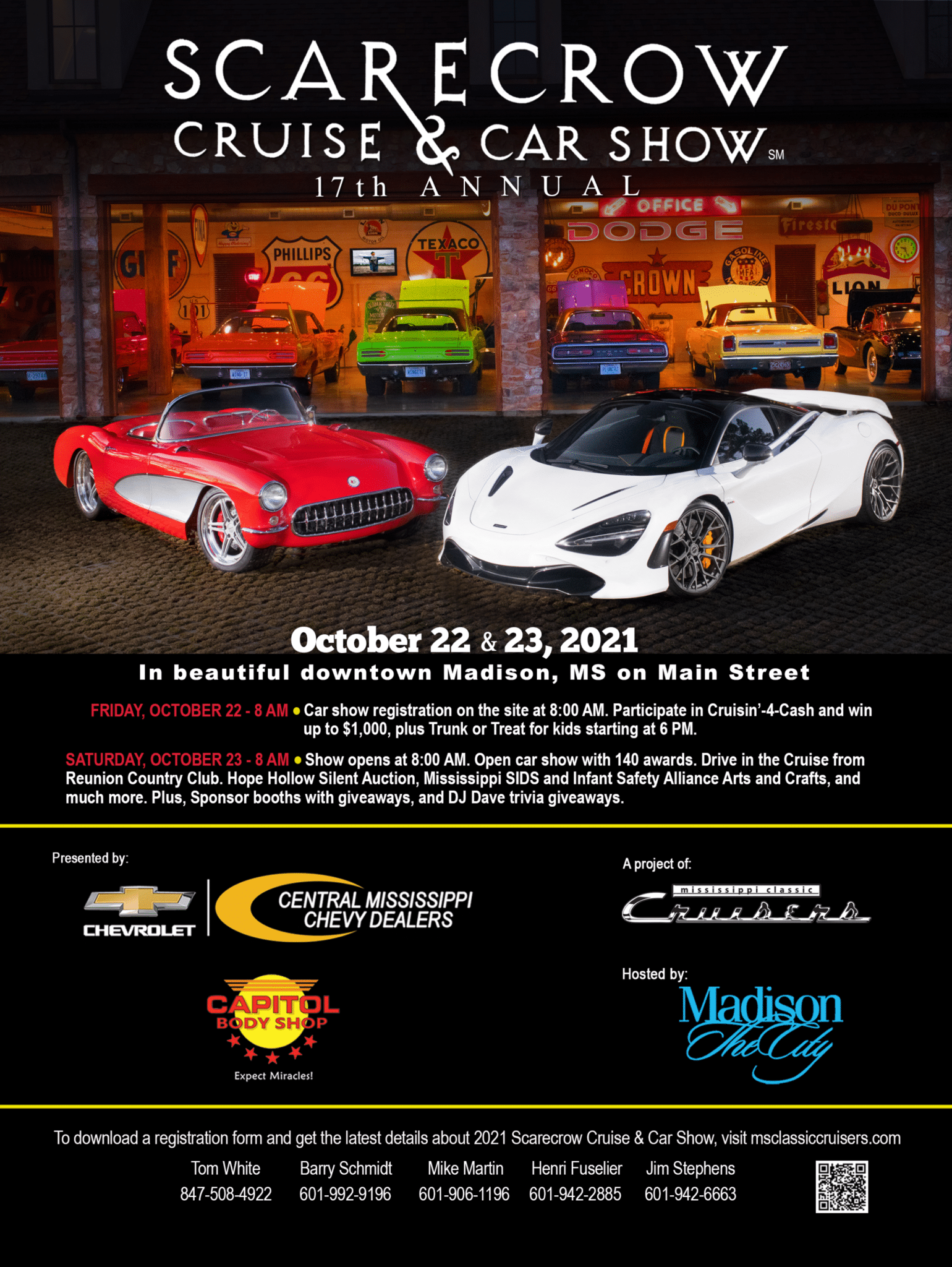 2021 Scarecrow Cruise And Car Show, October 22-23, 2021